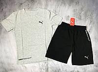 Мужской спортивный костюм (футболка и шорты) Puma BMW, фото 1