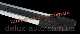 Боковые площадки из алюминия RedLine V1 для Dacia Lodgy 2013