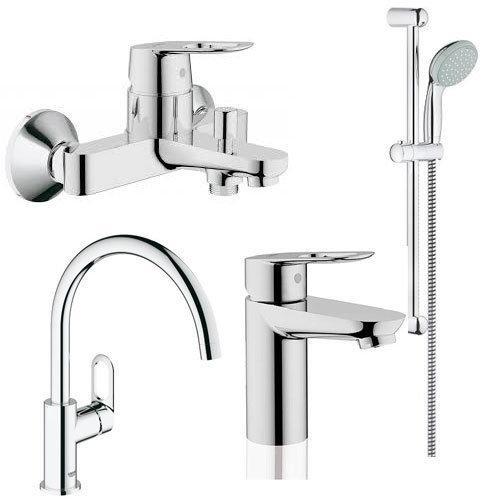 Набор смесителей для ванны и кухни Grohe BauLoop