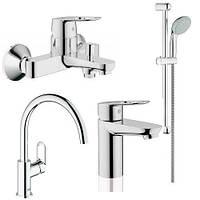 Набір змішувачів для ванни та кухні Grohe BauLoop 🇩🇪