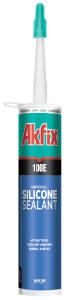 Герметик универсальный силиконовый Akfix 100E серый (280ml), фото 2