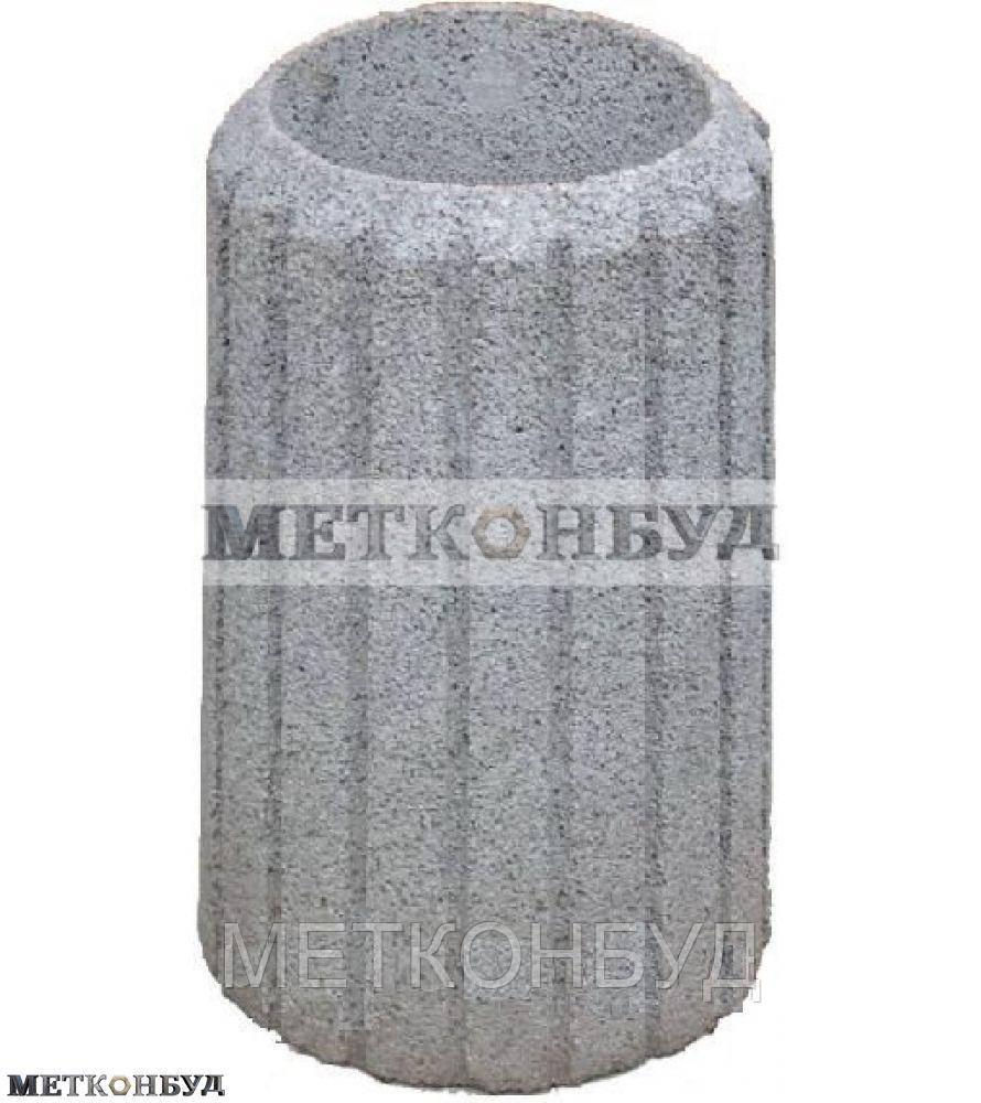Урна уличная бетонная К-18  (80 кг 40х60 см)