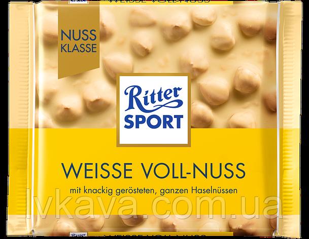 Белый  шоколад  Ritter Sport Weisse Voll-Nus , 100 гр, фото 2