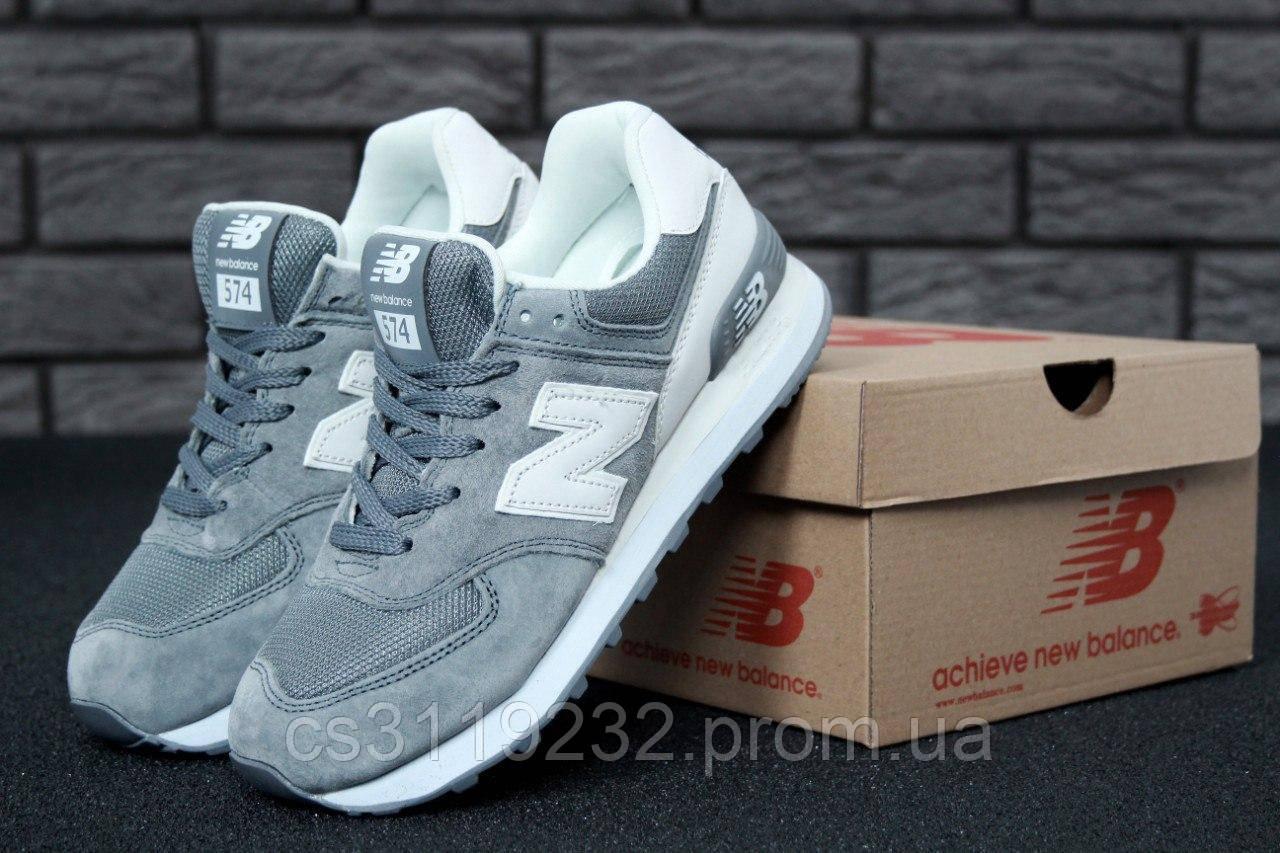 Женские кроссовки New Balance 574 (серый)