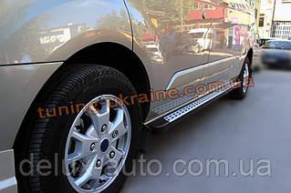 Боковые площадки из алюминия DotLine для Ford Transit Custom 2012 Short