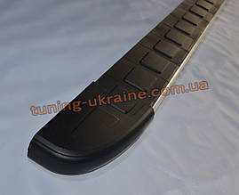 Боковые площадки из алюминия Duru для Ford Transit Custom 2012 Short