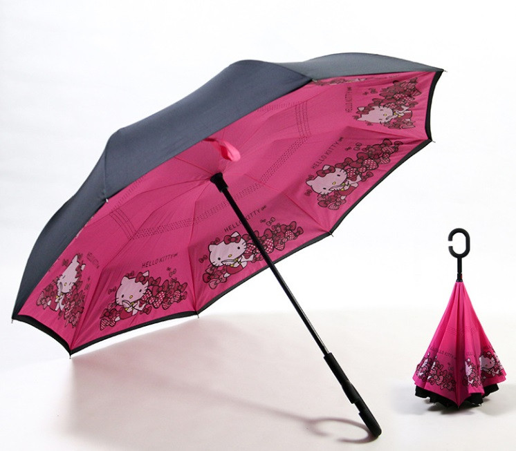 Дитяча парасолька зворотного складання SUNROZ Kids Up-brella парасоля-навпаки Стиль 13 (SUN5227)