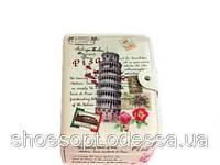 Винтажная шкатулка ювелирная Пиза Италия Прованс 20х13х5 см, фото 1
