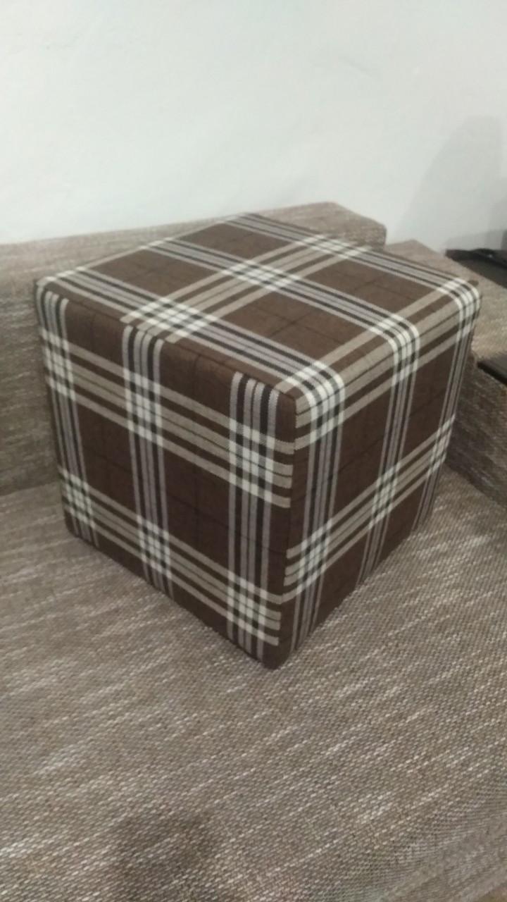 Пуф квадратный Шотландия С2  ,пуфик,пуфики,пуф кожзам,пуф экокожа,банкетка,банкетки,пуф куб,пуф фото