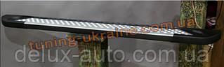 Боковые площадки из алюминия Allmond Led для Hyundai Santa Fe 2013