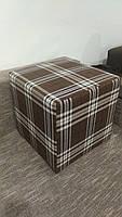 Пуф квадратный Шотландия С2  ,пуфик,пуфики,пуф кожзам,пуф экокожа,банкетка,банкетки,пуф куб,пуф фото, фото 2