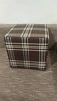 Пуф квадратный Шотландия С2  ,пуфик,пуфики,пуф кожзам,пуф экокожа,банкетка,банкетки,пуф куб,пуф фото, фото 4