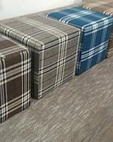 Пуф квадратный Шотландия С2  ,пуфик,пуфики,пуф кожзам,пуф экокожа,банкетка,банкетки,пуф куб,пуф фото, фото 6
