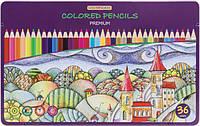 Карандаши цветные Premium 36 цветов
