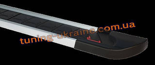 Боковые площадки из алюминия RedLine V1 для SsangYong Actyon Sport 2006-2012