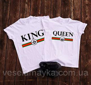 Парные футболки  King and Queen