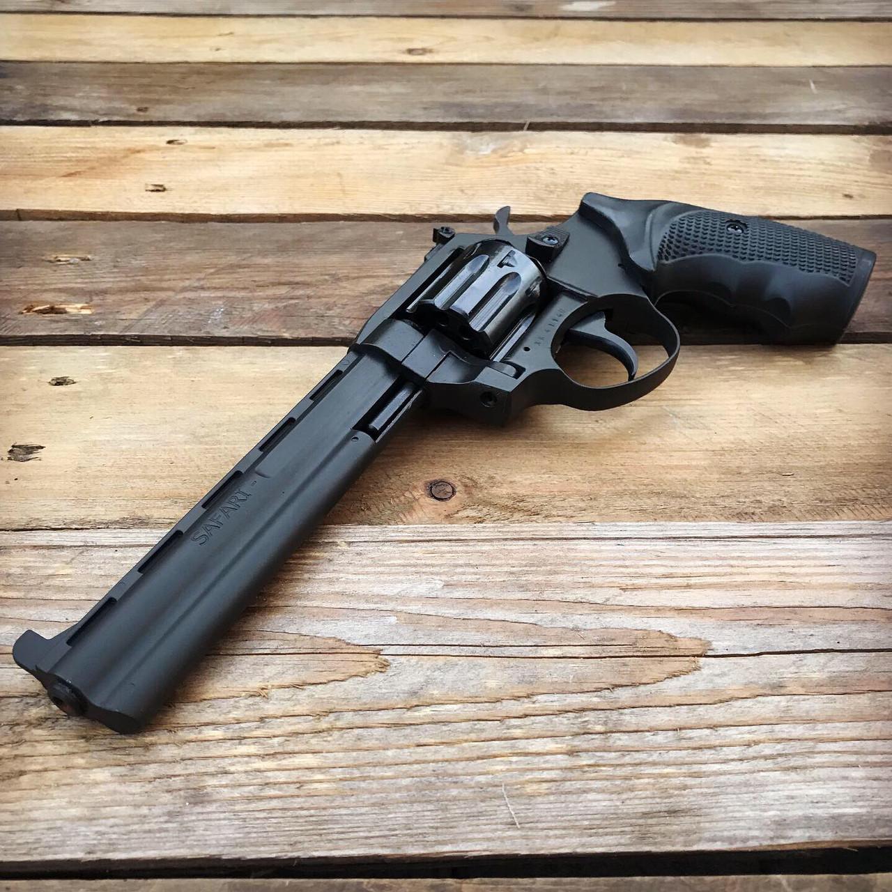 Револьвер ЛАТЭК Safari РФ-461М под патрон флобера (черн/пластик)