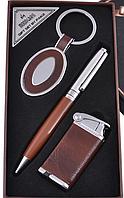 Подарочный набор Moongrass AL608 Брелок, шариковая ручка, зажигалка