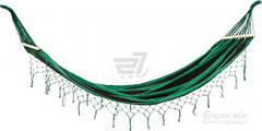 Гамак 100x200 см черный с зеленым