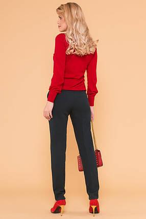 Женские базовые брюки со стрелками (XS, S, M, L) темно-зеленые, фото 2