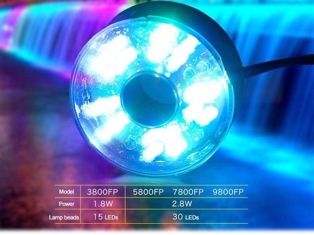 Фонтан зі світлодіодним підсвічуванням LED-9800FP, 85 Вт.