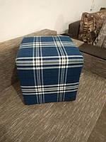 Пуф квадратный Шотландия С3 ,пуфик,пуфики,пуф кожзам,пуф экокожа,банкетка,банкетки,пуф куб,пуф фото, фото 2