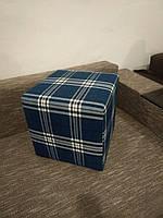 Пуф квадратный Шотландия С3 ,пуфик,пуфики,пуф кожзам,пуф экокожа,банкетка,банкетки,пуф куб,пуф фото, фото 3