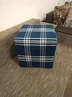 Пуф квадратный Шотландия С3 ,пуфик,пуфики,пуф кожзам,пуф экокожа,банкетка,банкетки,пуф куб,пуф фото, фото 5