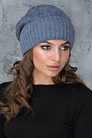 Женская шапочка с защипом Жанет светлый джинс
