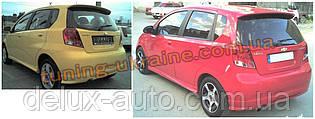 Юбка на задний бампер под покраску на Daewoo Kalos 2002-2008