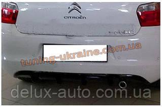 Юбка на задний бампер под покраску на Citroen C-Elysee 2012