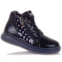 Демисезонные ботинки из нубука, на шнурках для девочек Tutubi 11.3.372 (21-40)