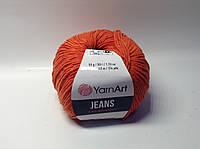 Пряжа jeans - цвет рыжий