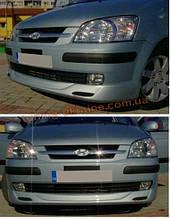 Юбка на передний бампер под покраску на Hyundai Getz 2002-2012