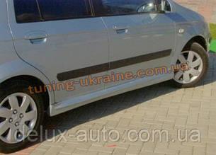 Накладки на пороги под покраску на Hyundai Getz 2002-2012