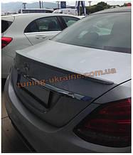 Спойлер без стопа под покраску на Mercedes C W205 2015