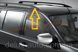 Рейлинги Оригинальная модель Черные на Mitsubishi Pajero Wagon 3 1999-2006