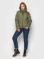 Демисезонная женская куртка К 0036 с 04 зеленый