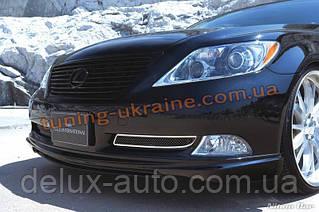 Накладка на передний бампер для Lexus ls 4 2006-2012