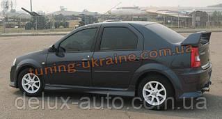 Накладки на пороги из стеклопластика на Dacia Logan 2004