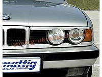 Реснички на фары для BMW 5 E34 1988-1997 с вырезом