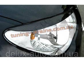 Реснички на фары для Hyundai Elantra 4 2006-2010 широкие