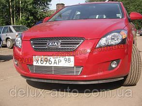 Реснички на фары узкие для Kia Ceed 1 2007-2012 хэтчбек
