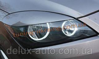 Реснички на фары широкие для Kia Ceed 1 2007-2012 хэтчбек