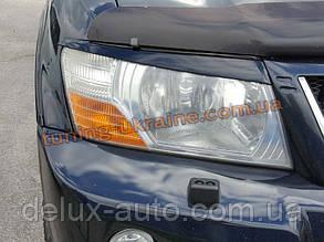 Реснички на фары для Mitsubishi Pajero Wagon 3 1999-2006