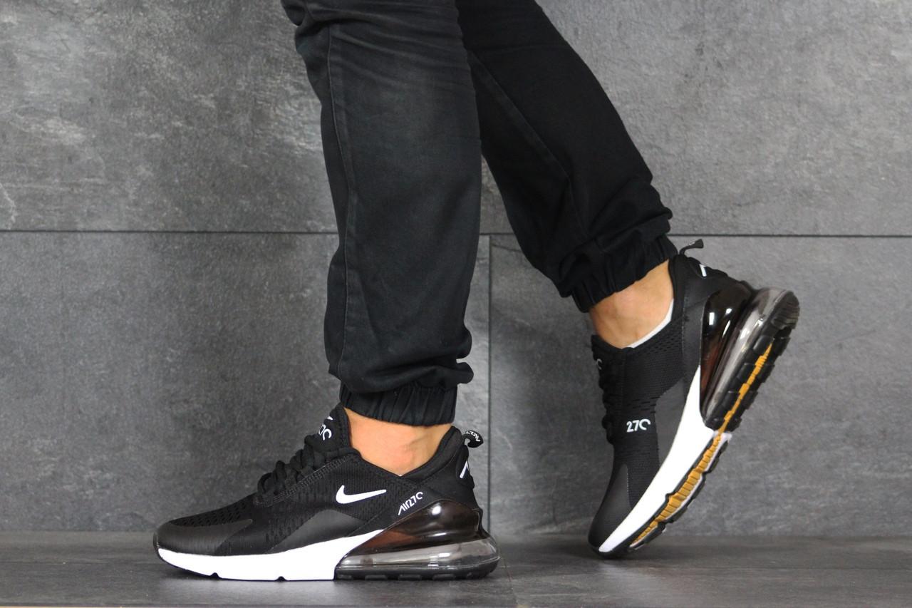 Мужские летние кроссовки Nike Air Max 270,черно-белые 44р