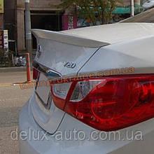 Спойлер-сабля из АБС пластика на Hyundai Sonata YF 2010-2013
