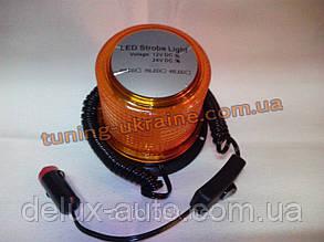 Мигалка на магните +крепеж 12В 24В светодиодная желтого цвета стробоскопная