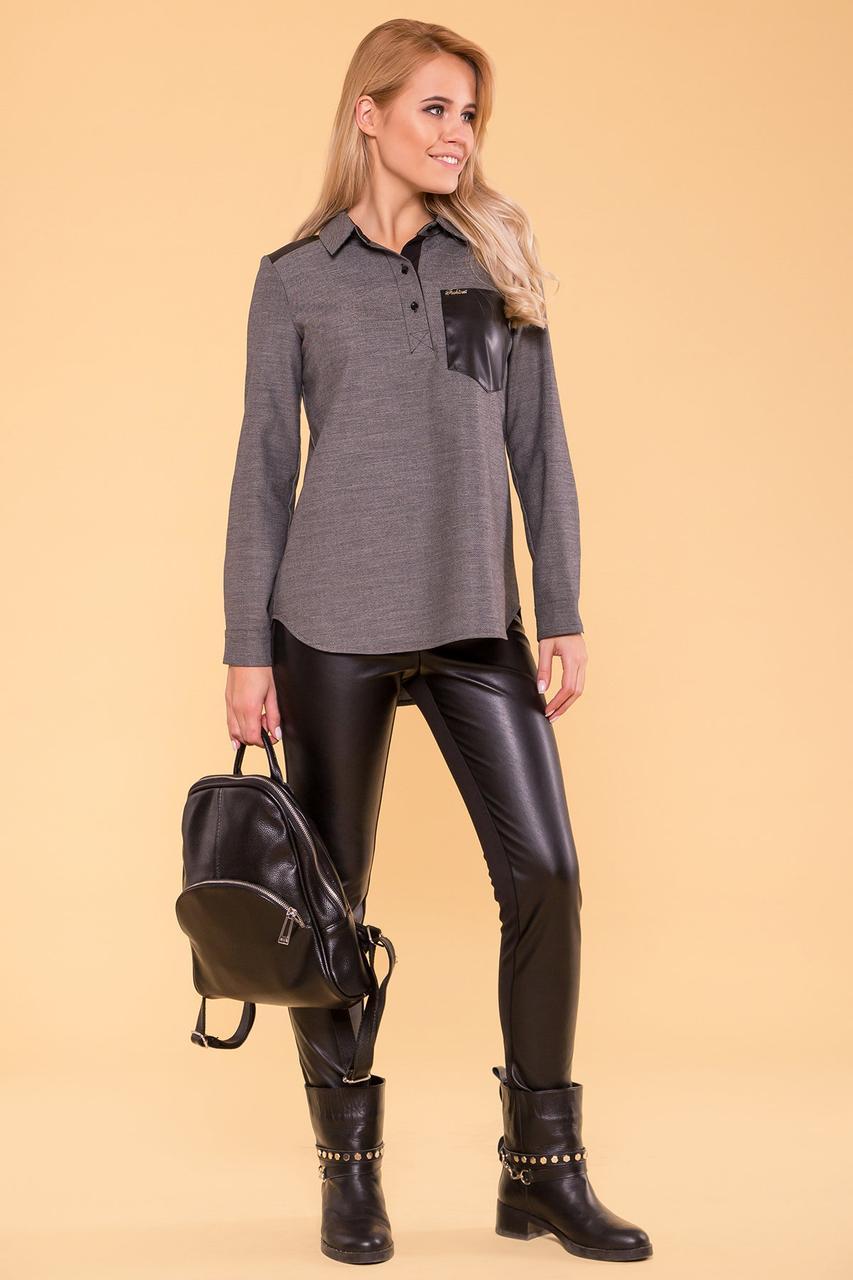 Эластичные брюки-лосины (XS, S, M, L) черные