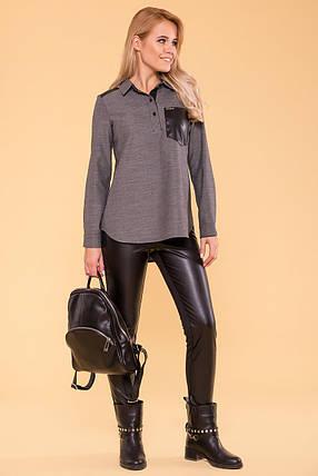 Эластичные брюки-лосины (XS, S, M, L) черные, фото 2